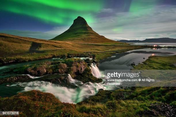 Northern Lights in Iceland Kirkjufell mountain