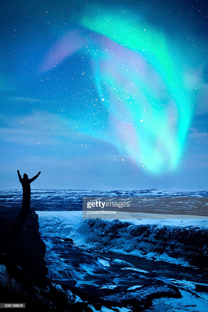Northern Lights in Iceland : Stock Photo