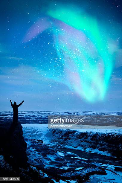 northern lights in iceland - aurora borealis stock pictures, royalty-free photos & images