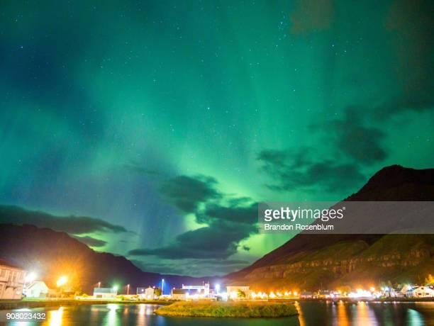 Northern Lights in Seydisfjordur, Iceland