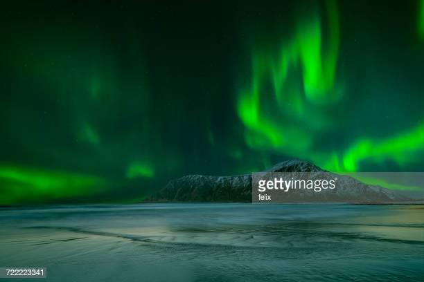 Northern lights, Lofoten, Nordland, Norway