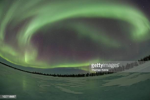 northern lights (aurora borealis), manitoba, canda - manitoba stock pictures, royalty-free photos & images