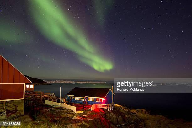 Northern lights over Ilulissat.