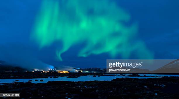 Northern Lights over the Blue Lagoon - Iceland