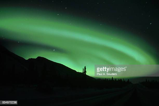 northern lights - chugach state park stock pictures, royalty-free photos & images