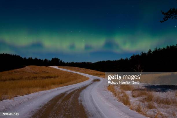 northern lights - minnesota stock pictures, royalty-free photos & images