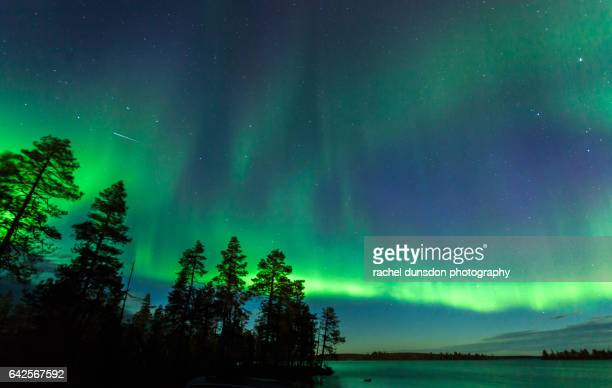 northern lights - finland stock pictures, royalty-free photos & images