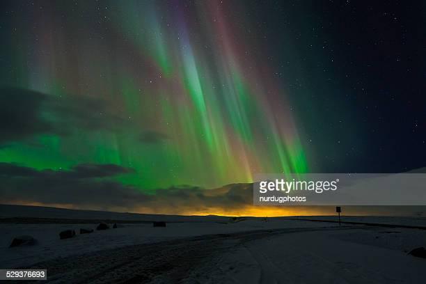 northern lights/aurora borealis - marginata stock pictures, royalty-free photos & images