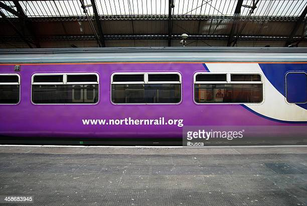 northern rail train in liverpool lime street station - north stock pictures, royalty-free photos & images