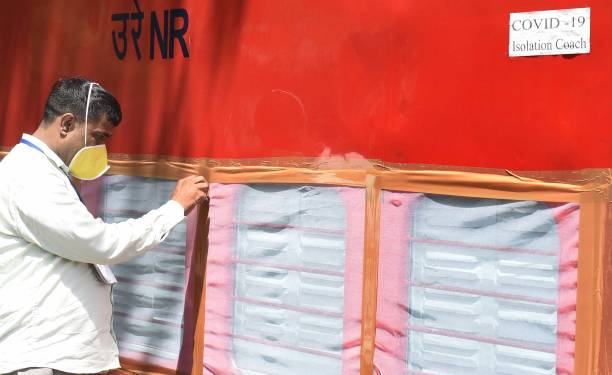 IND: Northern Railways Officials Convert Train Coaches Into Isolation Wards