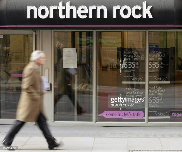 A Northern Rock bank branch is pictured in London on February 18 2008 British Prime Minister Gordon Brown defended Monday the decision to nationalise...