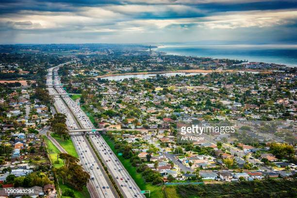 northern san diego county aerial - california stock pictures, royalty-free photos & images