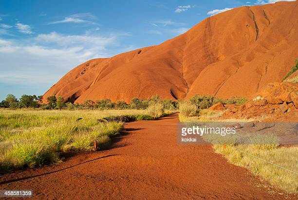 northern territory - road to uluru (ayers rock) - uluru stock photos and pictures