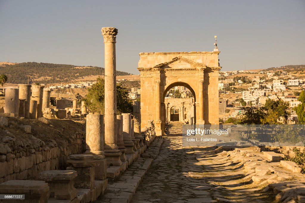 Northern Tetrapylon, Jerash : Stock Photo