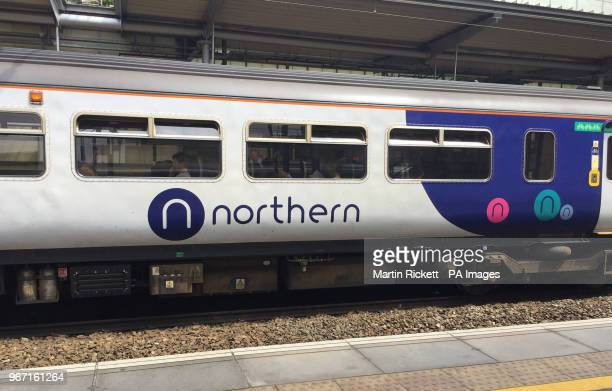 A Northern train at Liverpool South Parkway station on the day that the rail operator introduced an emergency timetable removing 165 trains 6% of...