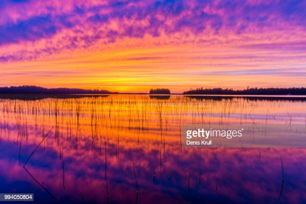 northern wisconsin sunset - howard,_wisconsin stock pictures, royalty-free photos & images