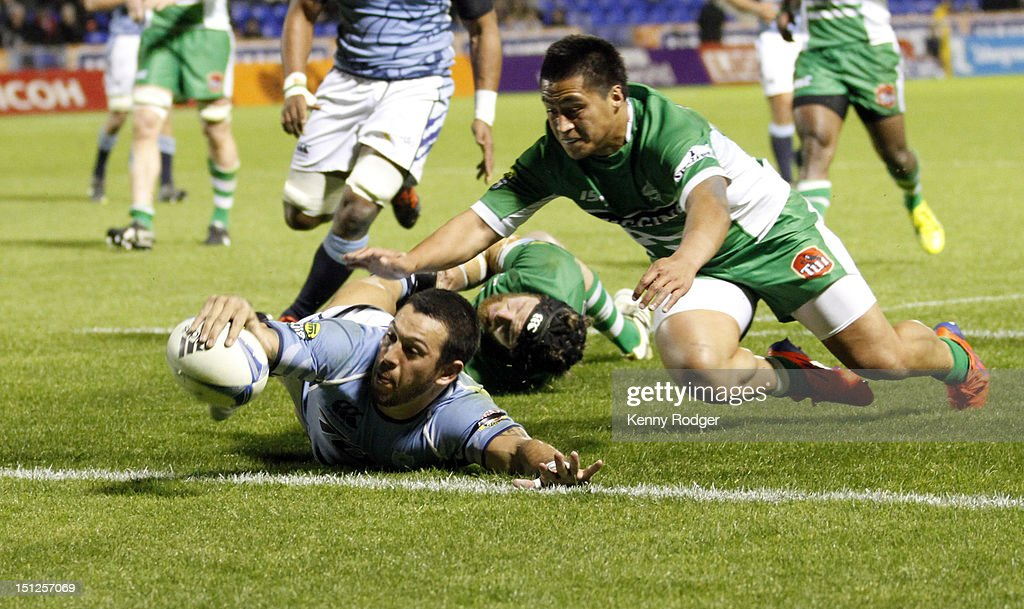 Northland player Rene Ranger scores a try during the round four ITM Cup match between Northland and Manawatu at Toll Stadium on September 5, 2012 in Whangarei, New Zealand.