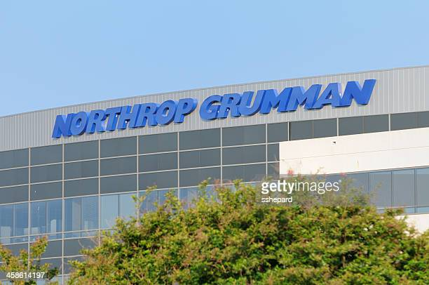 northrop grumman sign with copy space - northrop stock pictures, royalty-free photos & images