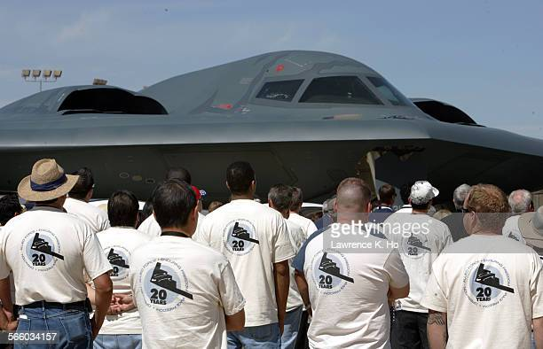 NorthropGrumman's employees came out in force to observe the 20th anniversary celebration of the first flight of the B2 stealth bomber The world's...