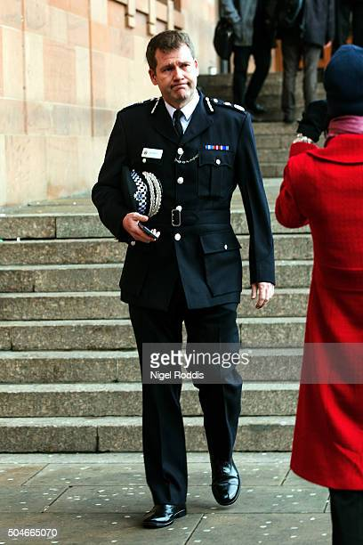 Northumbria Police Chief constable Steve Ashman leaves after appearing at PC David Rathband's family's court case against Northumbria police at...