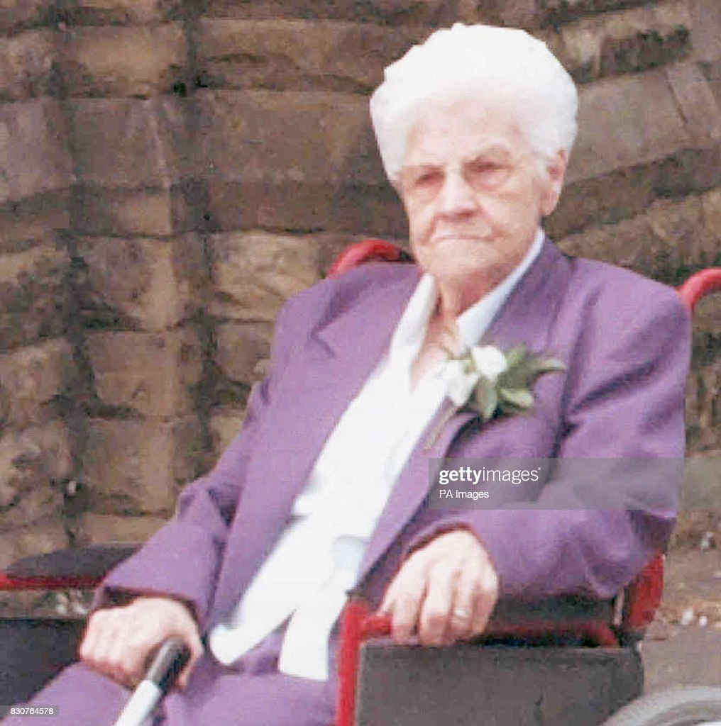 Northumbria Police hand out picture, dated August 2001 of Frances Dorand, 87, who was sexually assaulted in her home and has now waived her right to anonymity so that the public would know what this man had done to her and the police can appeal for help. * Widow Frances of the Grangetown district of Sunderland was attacked in her ground floor council flat as she lay in bed some time after 11pm on 16/11/01.