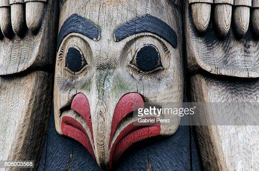 A Northwest Coast Totem Pole