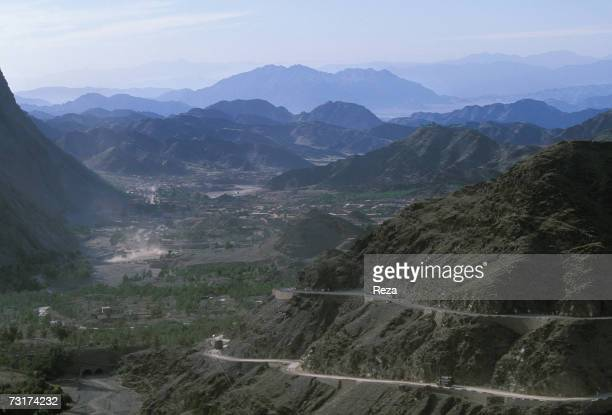 NorthWest Frontier Province View of Khyber Pass in the middle of the Pashtun tribal zone of Waziristan at the AfghanPakistani border In the...