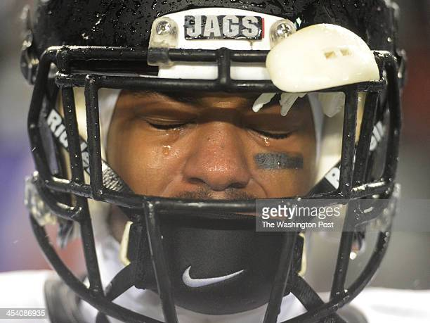 Northwest WR Trint Coulter cries tears of joy as the clock ticks off their win over Suitland in the Maryland 4A football final on December 2013 in...