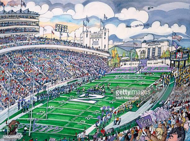 Northwestern University Football by Mark McMahon