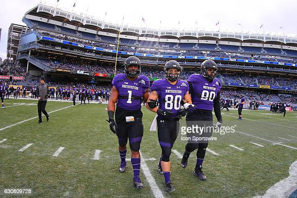Northwestern Wildcats captains linebacker Anthony Walker Jr. With teammates Northwestern Wildcats wide receiver Austin Carr and Northwestern Wildcats...