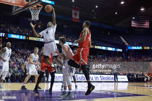 Northwestern Wildcats forward Vic Law battles for a rebound during the BIG Ten college basketball game between the Northwestern Wildcats and the Ohio...