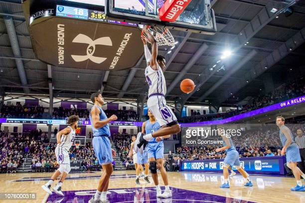 Northwestern Wildcats forward Vic Law dunks during a game between the Columbia Lions and the Northwestern Wildcats on December 30 at Welsh-Ryan Arena...
