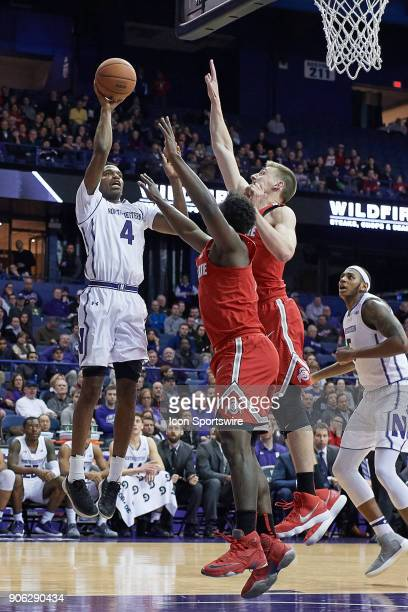 Northwestern Wildcats forward Vic Law shoots the basketball during the BIG Ten college basketball game between the Northwestern Wildcats and the Ohio...