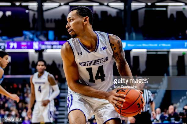 Northwestern Wildcats guard Ryan Taylor controls the ball during a game between the Columbia Lions and the Northwestern Wildcats on December 30 at...