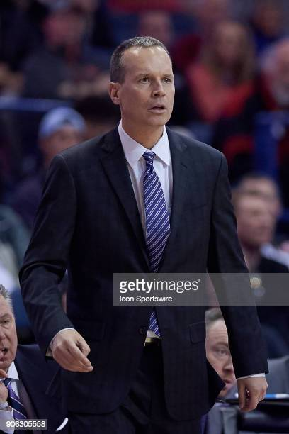 Northwestern Wildcats head coach Chris Collins looks on during the BIG Ten college basketball game between the Northwestern Wildcats and the Ohio...