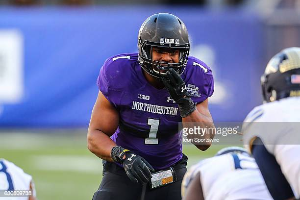 Northwestern Wildcats linebacker Anthony Walker Jr. During the 2016 Pinstripe Bowl between the Pittsburgh Panthers and the Northwestern Wildcats on...