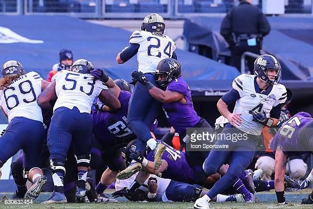Northwestern Wildcats linebacker Anthony Walker Jr. Stops Pittsburgh Panthers running back James Conner on the goal line during the 2016 Pinstripe...