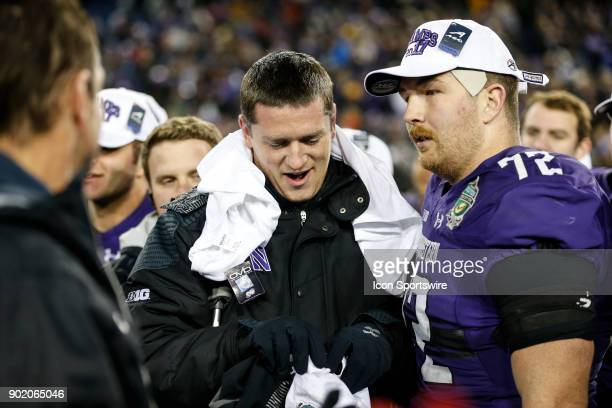 Northwestern Wildcats quarterback Clayton Thorson after the Music City Bowl bowl game between the Kentucky Wildcats and the Northwestern Wildcats on...