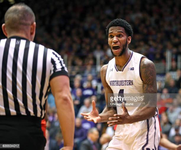 Northwestern's Vic Law reacts after being called on a foul during the first half against Maryland at WelshRyan Arena in Evanston Ill on Wednesday Feb...