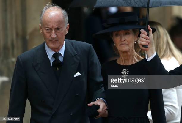 Norton Knatchbull Earl Mountbatten of Burma and his wife Penelope Knatchbull attends the funeral of The Countess Mountbatten of Burma at St Paul's...