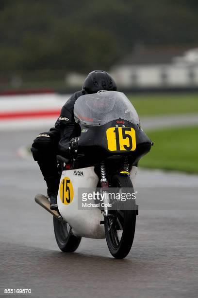 Norton Manx 500 ridden by entrant Patrick Walker John Leigh Pemberton in the Barry Sheene Memorial Trophy at Goodwood on September 8th 2017 in...