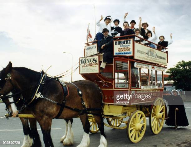 Nortumbria in Bloom judges Mrs Romy Cookson and Mrs Jennifer Scott tour the town in a horsedrawn charabanc provided through advertising sponsorship...