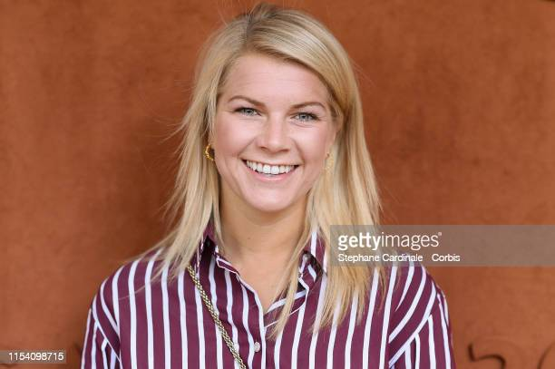Norvegian football player Ada Hegerberg attends the 2019 French Tennis Open Day Twelve at Roland Garros on June 06 2019 in Paris France