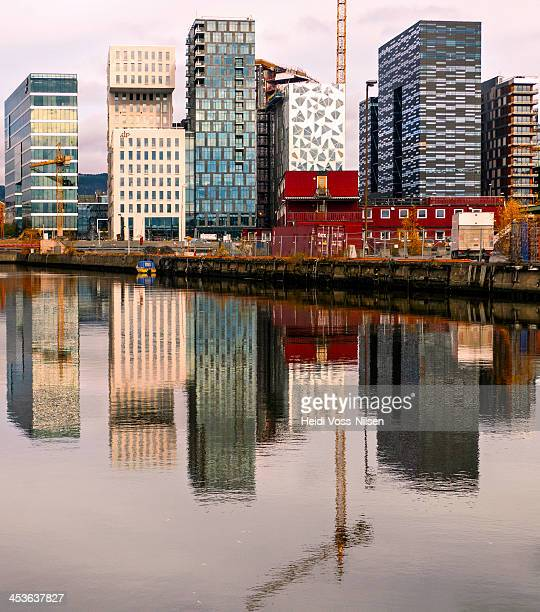 Norway 2012; The Barcode area is a section of Bjørvika and part of redevelopment of former dock and industrial land in central Oslo.