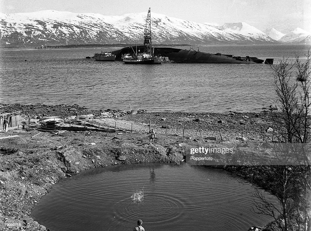 1949 norway a picture of the black wreck of the