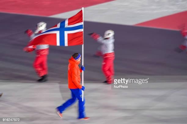Norway at opening ceremony at 2018 Pyeongchang winter olympics at Pyeongchang olympic stadium Pyeongchang South Korea February 09 2018