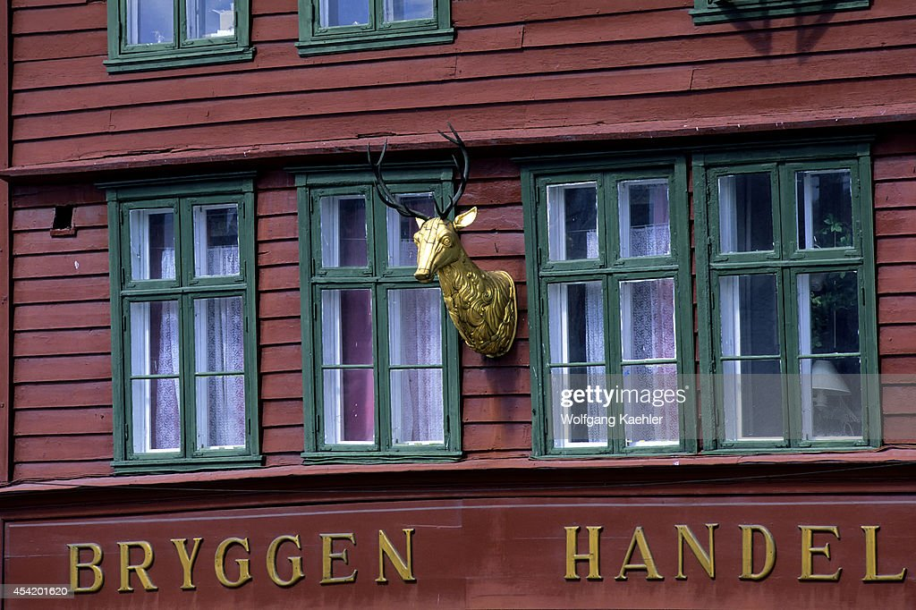 Norway, Bergen, Bryggen District With Historic Wooden House...