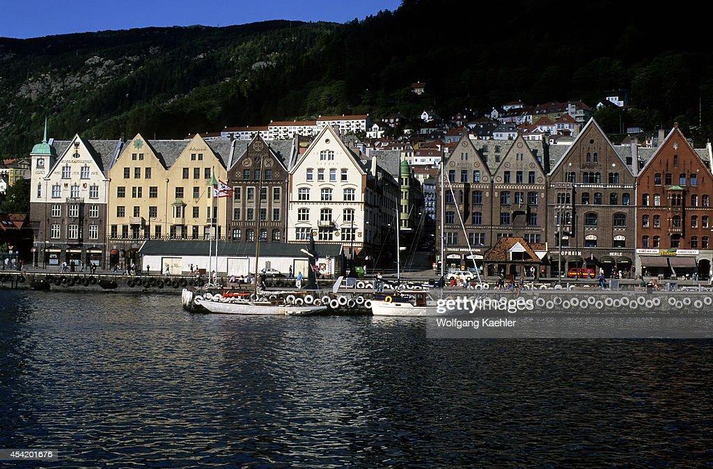 Norway, Bergen, View Of Historic Bryggen District.