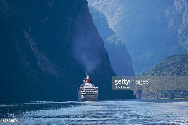 Norway: Cruise liner in Sognefjord