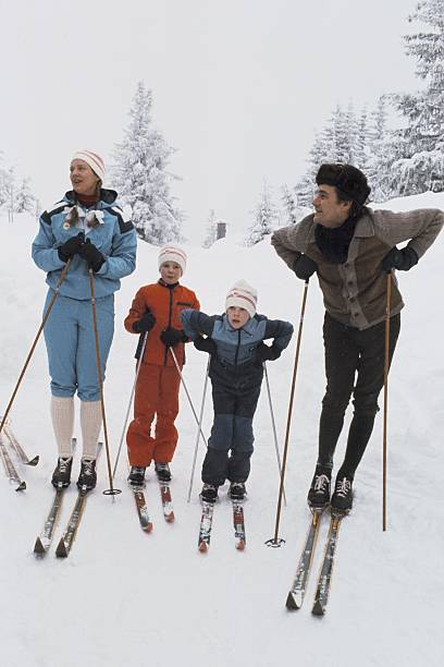 Norway, Danish Royal Family Skiing During A Winter Holiday On Seventies